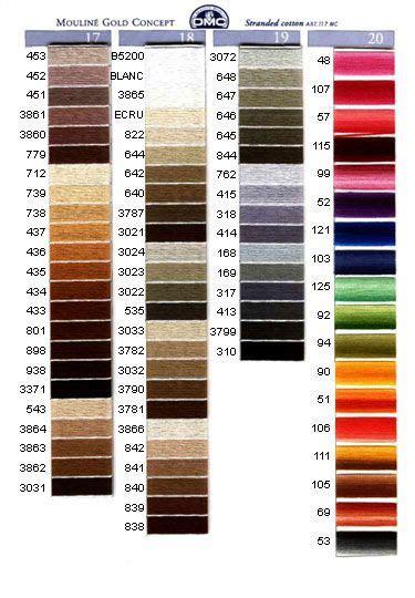 dmc colors 17 best images about dmc colours on