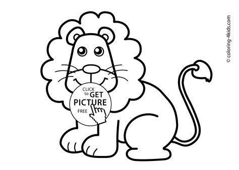 free animal coloring pages for toddlers lion animals coloring pages for kids printable free