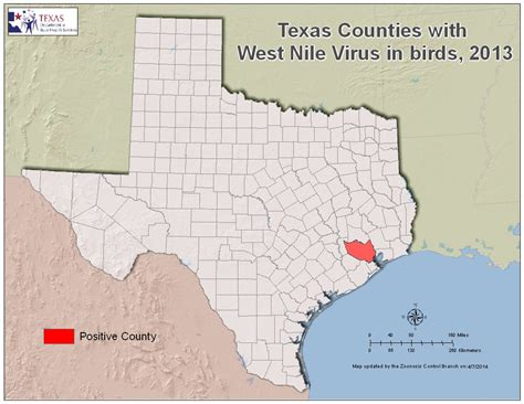 map of west texas counties 2013 texas west nile virus maps