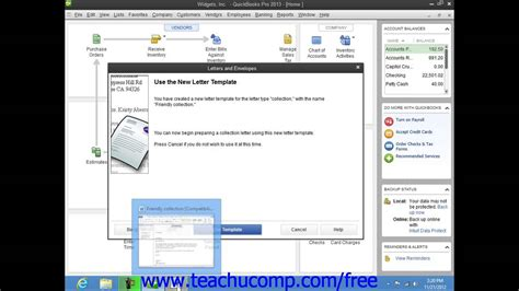 quickbooks tutorial on youtube quickbooks pro 2013 tutorial editing letter templates