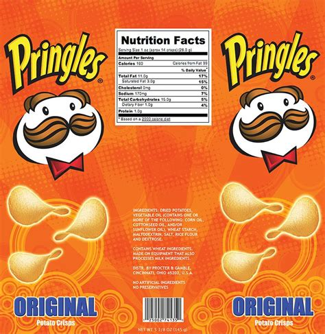 Image Result For Pringles Label Design Chip Containers Pinterest Label Design Chips And Chip Label Template