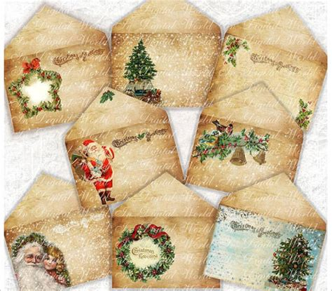 christmas envelope templates  psd eps ai