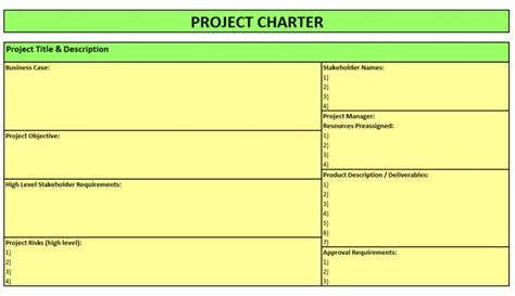 project management project charter template best photos of office project charter template project
