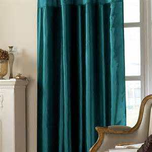 Teal Drapes Curtains Emroidered Taffeta Curtain Teal