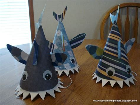 How To Make A Paper Shark Hat - 25 best ideas about shark hat on shark week