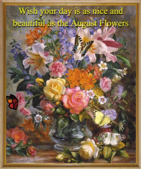 nice august flower ecard    august flowers ecards