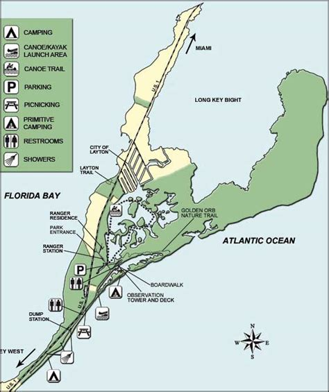 florida state parks map key state park florida state parks