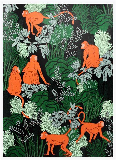 design pattern amazon langur monkeys print club london
