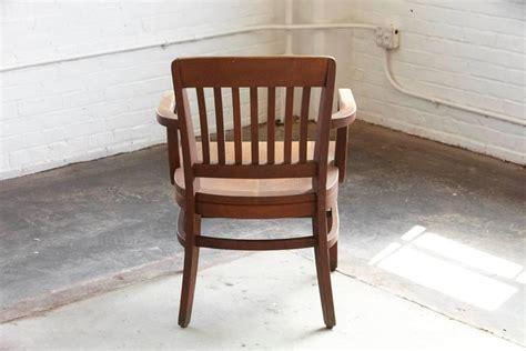 1920s Solid Oak Office Armchair By W H Gunlocke Chair Co
