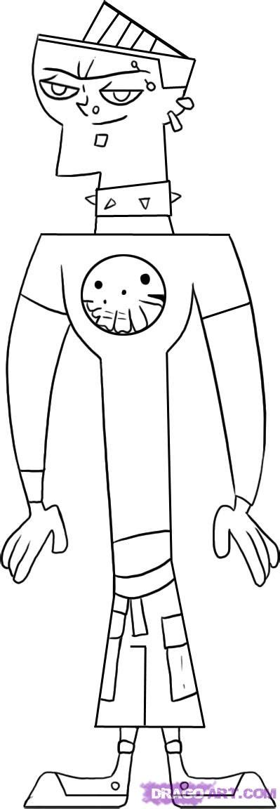 total drama island coloring pages how to draw duncan step by step network