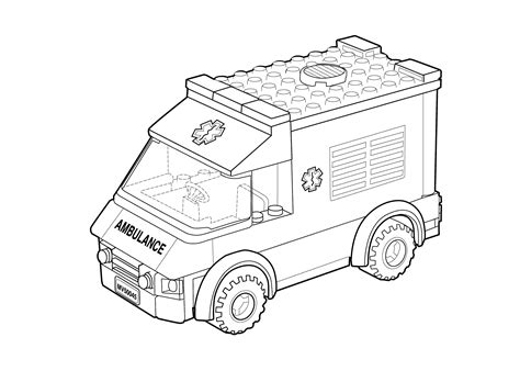 ambulance coloring page free lego ambulance car coloring page for kids printable free