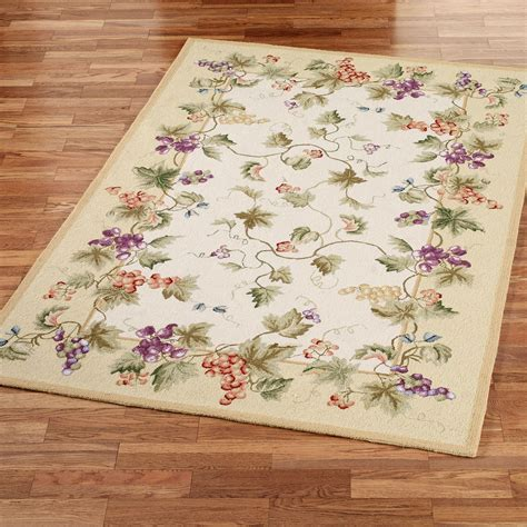 grape rugs kitchen vining grapes wool area rugs