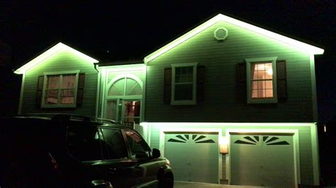 how to hang christmas lights under eaves installed rgb led light demonstration