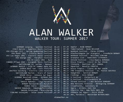 alan walker alan walker announces walker tour in north america europe