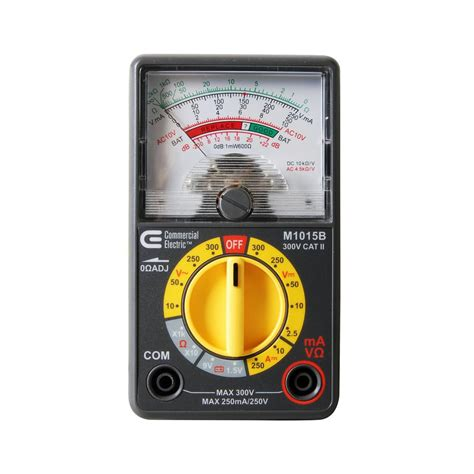 Multimeter Analog commercial electric analogue multimeter m1015b the home