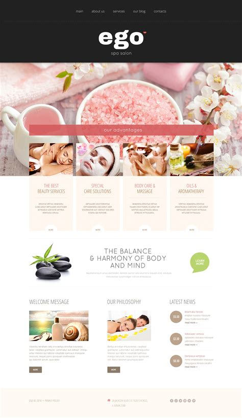 spa website inspiration spa salon joomla template 49257