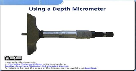 depth micrometer wisc  oer