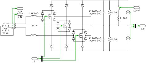 circuit rectifier ac dc vienna rectifier with hysteresis current controller plexim