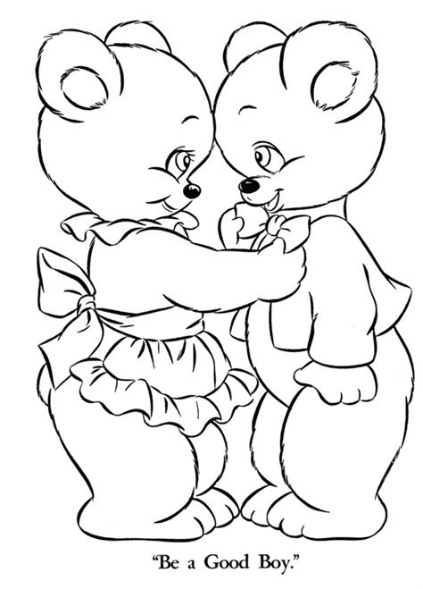 coloring page of a bear head teddy bear coloring pages for kids