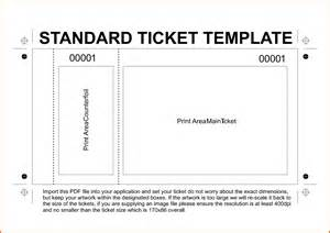 free ticket template printable raffle ticket template printable