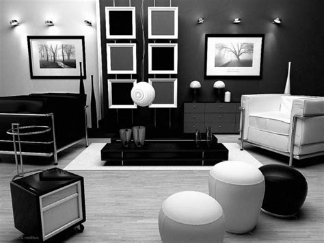 Lovely Home Decorating Ideas Black And White #1: Trendy-white-studio-apartment-interior-ideas-with-black-bean-bag-and-living-room-waplag-decor-unique-also-hotel-bedroom-design_interior-ideas_designer-house-custom-home-plans.jpg