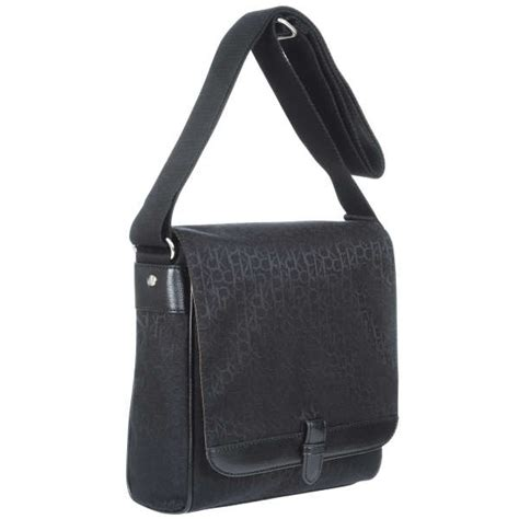 Ck Bag Backpack Black Ck20 ck by calvin klein logo messenger bag black