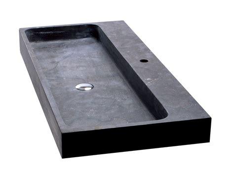 lavabo nero bagno lavabo purestone recife 100x49xh10 nero iperceramica