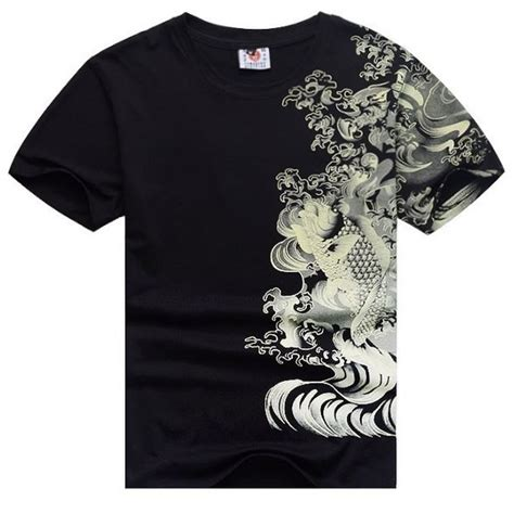 tattoo design shirts koi fish yakuza t shirt japanese streetwear hip hop