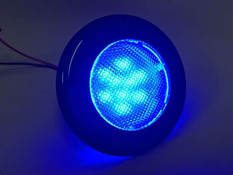 blue led light marine boat rv flush mount led blue courtesy light