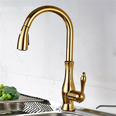 Kitchen Faucets Dubai Flg Single Pull Kitchen Faucet With Sprayer Gold