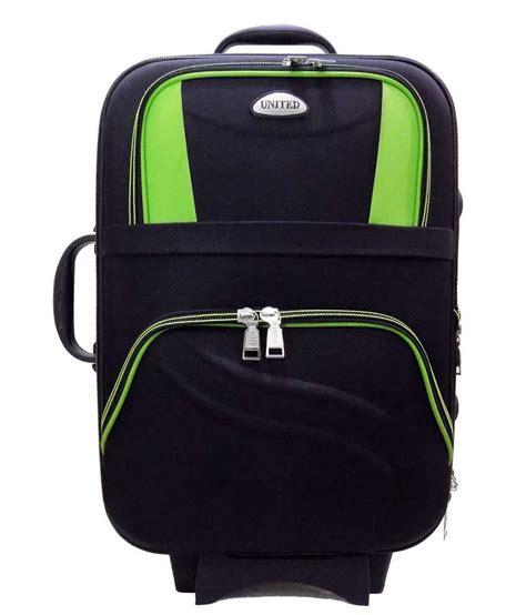 united luggage united bags black 2 wheel trolley hulk 20 inch buy