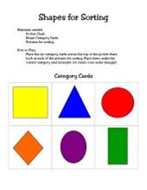 printable shapes for sorting small medium large shapes teaching lesson ideas