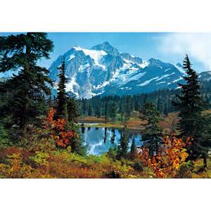 Landscape Wall Mural Mountain Morning Landscape Wall Mural 366 X 254 Cm