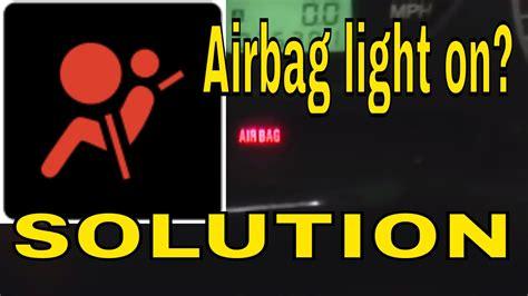 reset clear  airbag air bag control module light