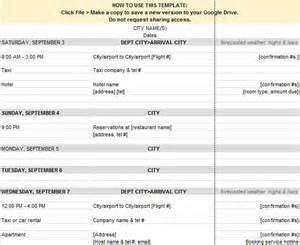 itinerary template 30 itinerary templates travel vacation trip flight