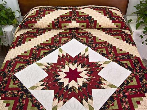 Lone Log Cabin Quilt Pattern by Lone Log Cabin Quilt Magnificent Meticulously Made