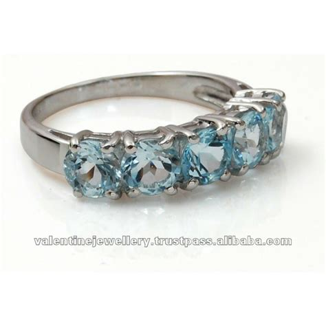 925 sterling silver aquamarine ring silver rings in buy