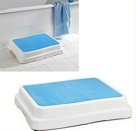 bathtub step stool safety bathtub shower non slip bath step stool buy wave