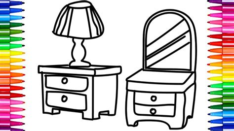 bedroom drawing for kids fun coloring pages for kids furniture for bedroom how to