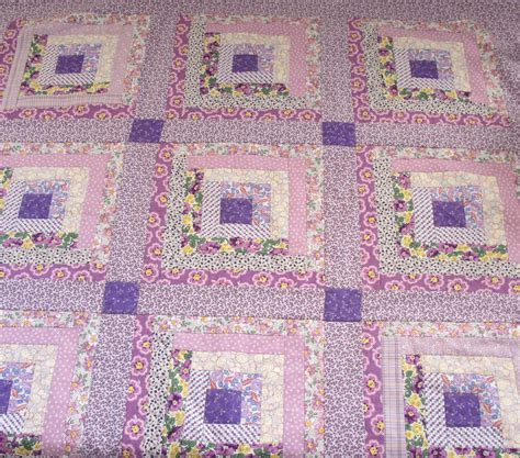 Quilt Fabric by Sentimental Baby Log Cabin Quilt And 1930s Reproduction Fabric