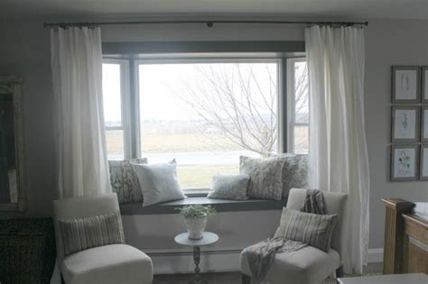 curtains for window seat window seat curtains dream home pinterest