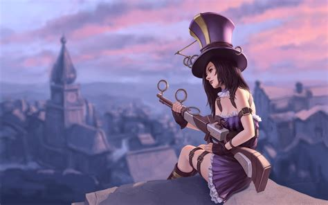 caitlyn the caitlyn the sheriff of piltover wallpaper