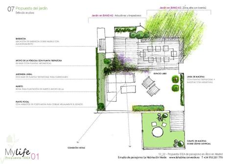 planos jardines plano de dise 241 o de jard 237 n para terraza con dos niveles