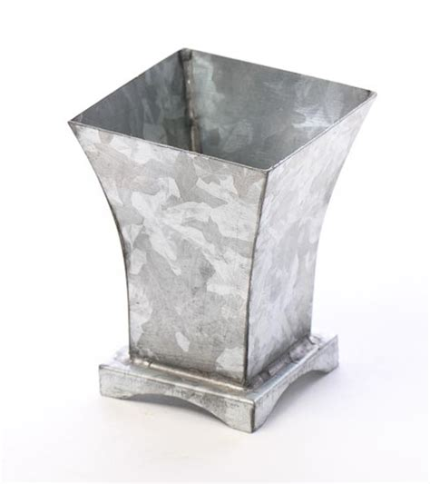 Galvanized Vase by Small Galvanized Metal Flower Vase Baskets Buckets