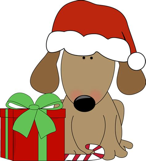 christmas jeep clip art dog with christmas gift and candy cane clip art dog with