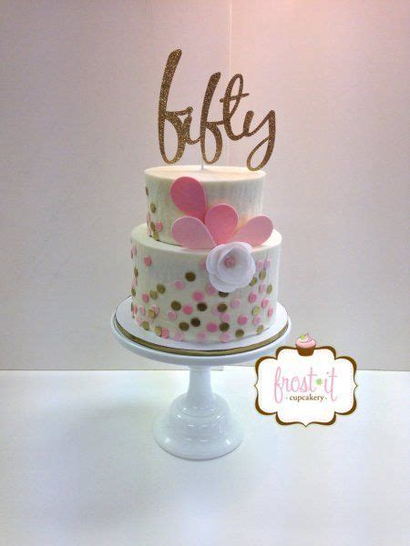 A 50th birthday cake idea for a woman that is contemporary and stylish. See more 50th birthday