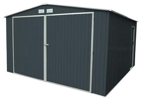 Garage Metallique En Kit 5918 by Garage En M 233 Tal Gris Anthracite 20 M2 Kit D Ancrage