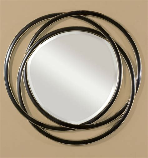 round silver bevelled mirror new large 48 quot black with silver leaf edges entwined beveled wall mirror ebay
