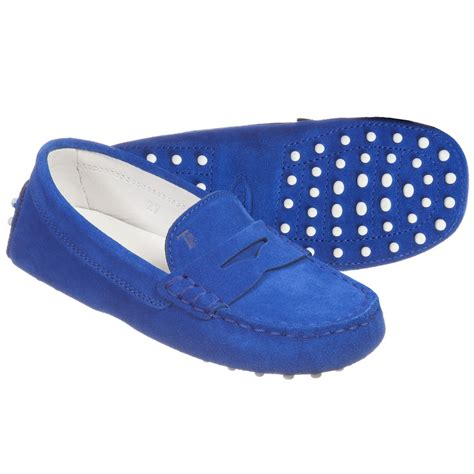 royal blue suede tod s royal blue suede moccasin shoes childrensalon