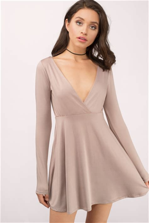 v neck dress low cut dress plunging neckline dress tobi